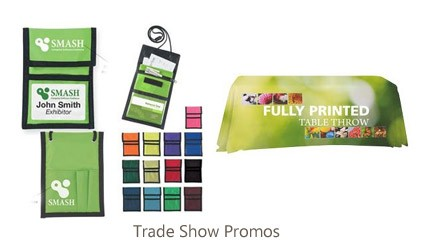 Giveaways, personalized tradeshow items